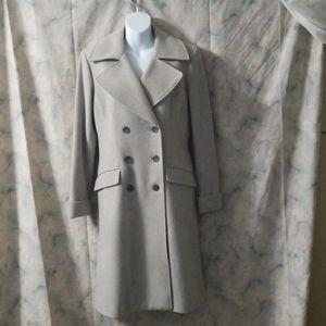 Ralph Lauren dove gray wool dble breasted coat